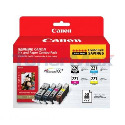 CANON PGI-220/CLI-221 INK AND PAPER COMBO PACK